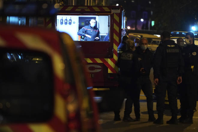 Police have locked down part of Lyon during a manhunt
