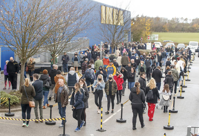 Ikea in West Yorkshire was busy on Sunday morning