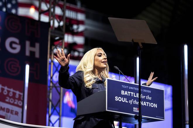 Lady Gaga spoke in support of Joe Biden