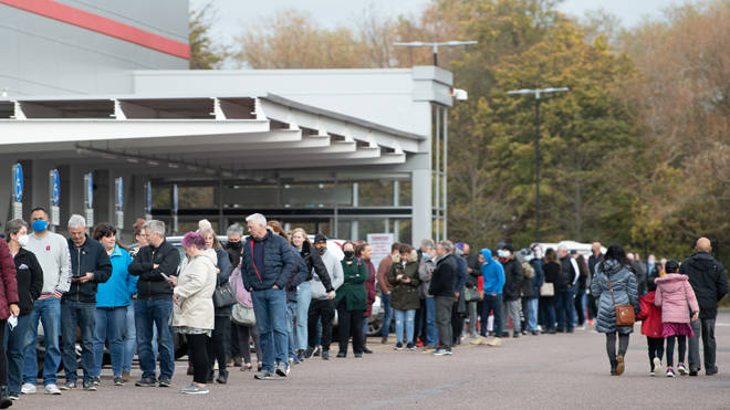 The lockdown announcement sparked fresh panic buying at supermarkets