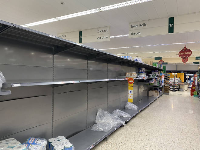 Shoppers have begun panic-buying toilet rolls and other goods ahead of lockdown