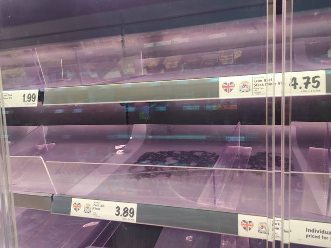 Shoppers have been stockpiling meat and other items ahead of another lockdown
