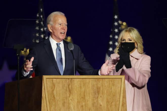 Joe Biden speaks on the American people on election night