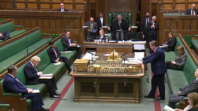 Sir Keir Starmer and Boris Johnson clashed at PMQs