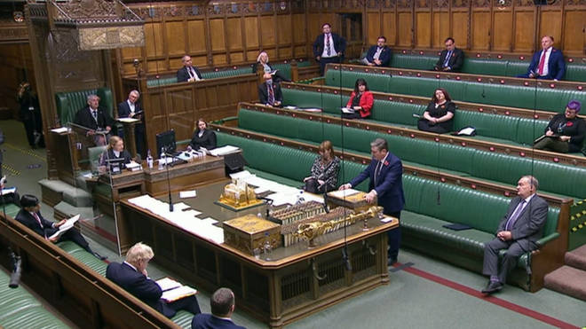 Labour leader Sir Keir Starmer speaks during Prime Minister's Questions in the House of Commons