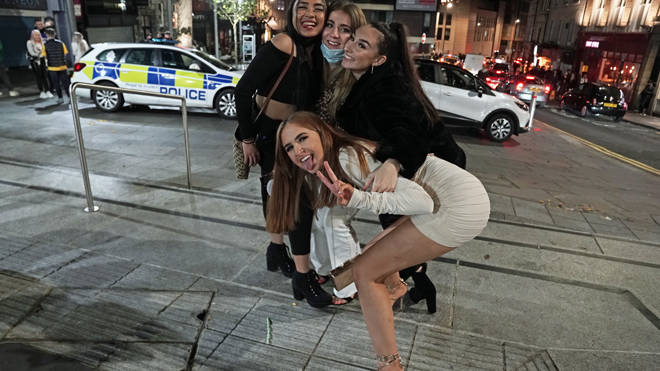 A group enjoying a night out in Newcastle