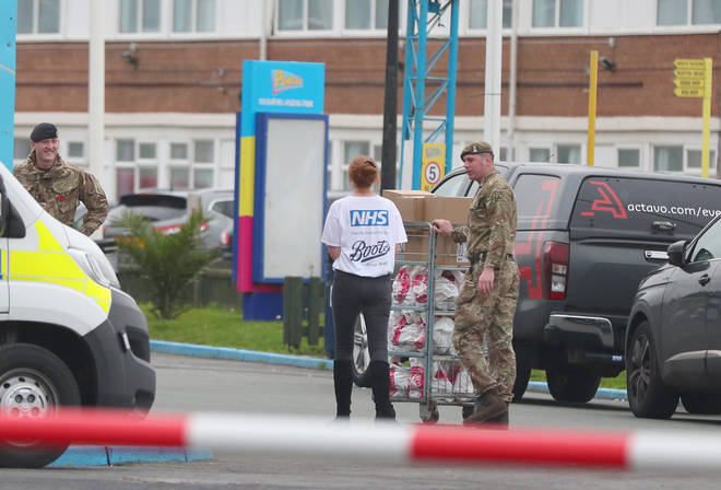 Supplies are brought to Pontins in Southport