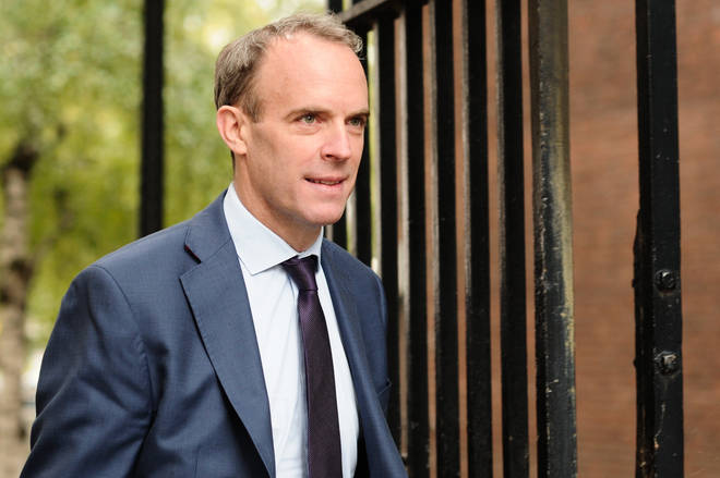 Foreign Secretary Dominic Raab has called for fresh elections in Belarus