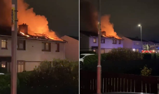 Fire crews rushed to semi-detached properties