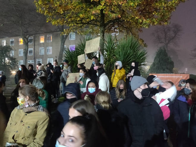 Students pulled down the fences last night