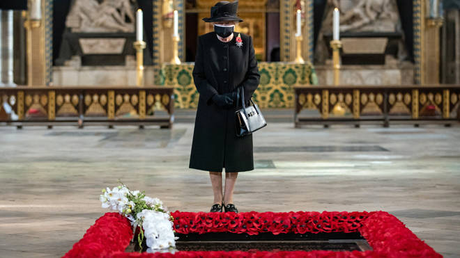 The Queen visited the grave of the Unknown Warrior