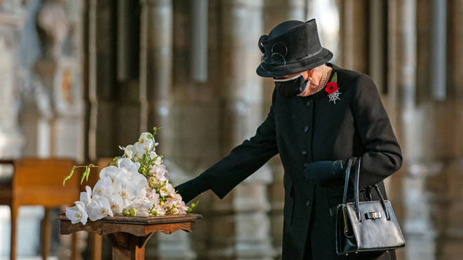 The Queen made the pilgrimage to Westminster Abbey ahead of Remembrance Sunday