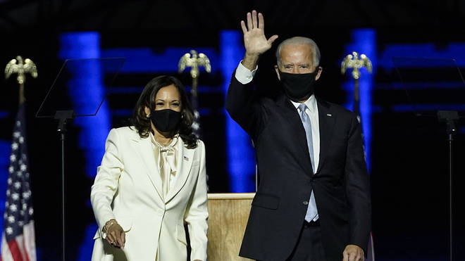 Joe Biden addresses the nation after winning White House race