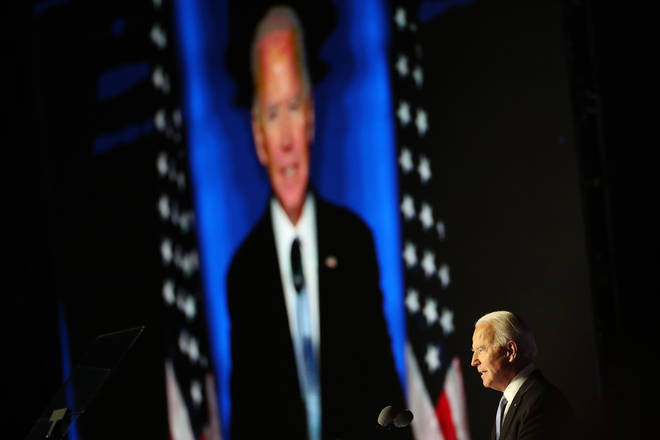 President-Elect Joe Biden And Vice President-Elect Kamala Harris Address The Nation After Election Win