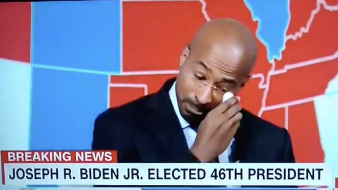 Van Jones broke down on air while responding to Biden's victory