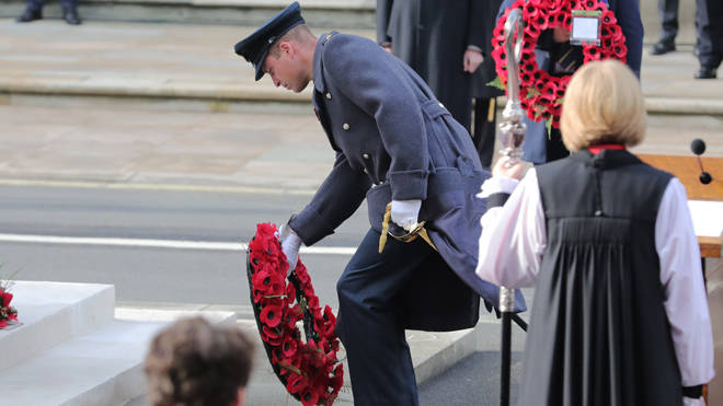 The Duke of Cambridge also laid a wreath