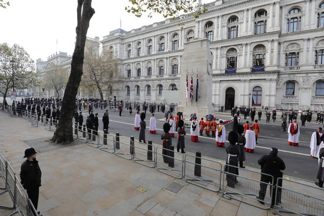 The public were unable to attend the Cenotaph service due to coronavirus restrictions.