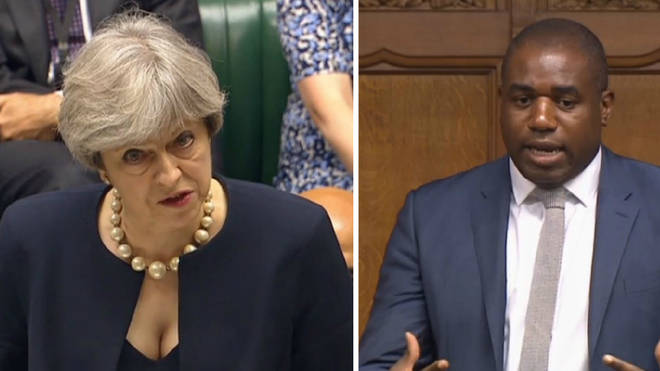 Theresa May David Lammy