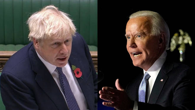 Boris Johnson has said he will proceed with his Brexit bill despite a previous warning from Joe Biden