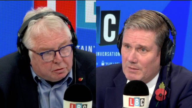 The Labour leader was answering callers' questions for Call Keir with Nick Ferrari