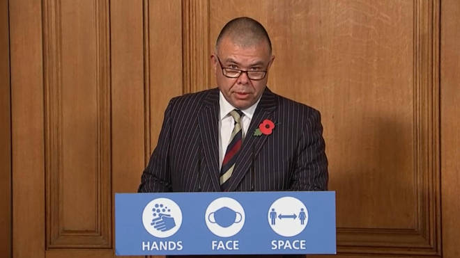 Jonathan Van Tam also spoke at the press conference