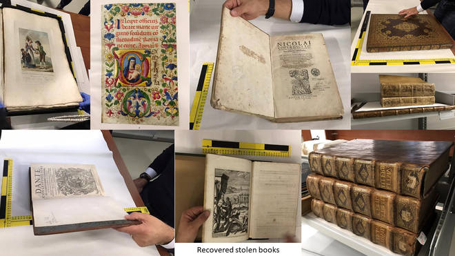 240 culturally significant books were stolen by a Romanian criminal gang