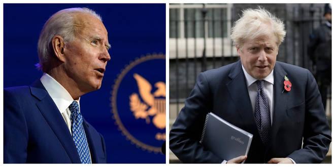 President-elect Joe Biden spoke to Boris Johnson on Tuesday