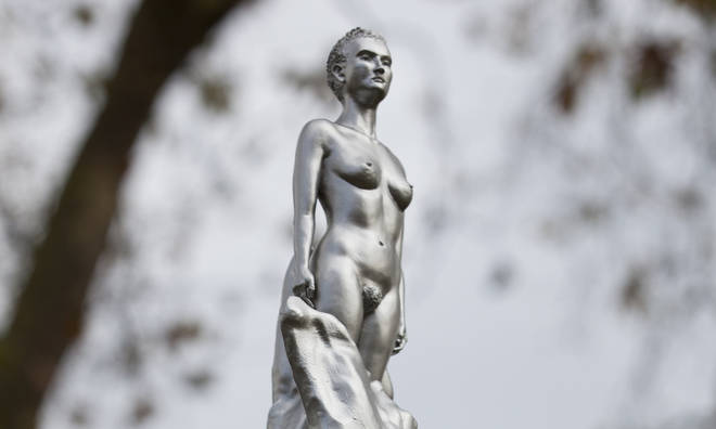 Mary Wollstonecraft's statue has sparked controversy due to the feminist being depicted in a naked form