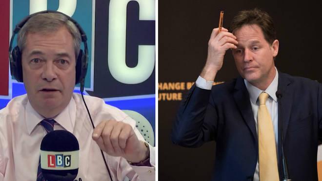 Nigel Farage Nick Clegg