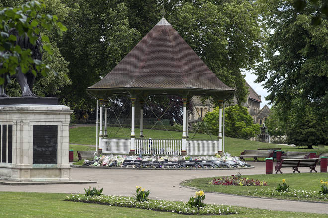A general view of Forbury Gardens in Reading