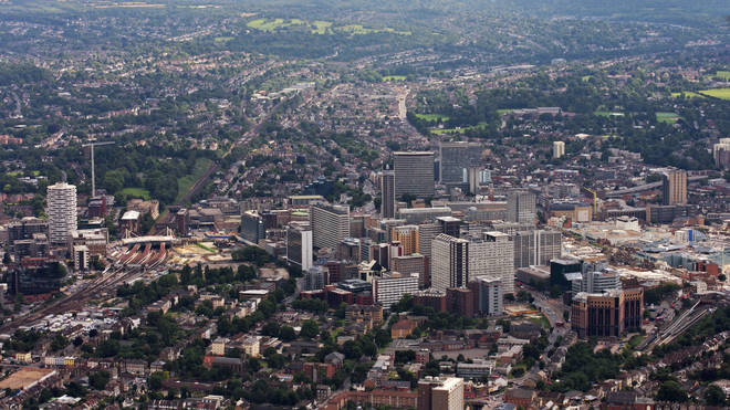 File photo: Aerial view of Croydon town centre