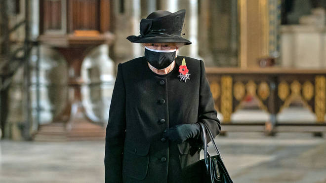 The Queen was recently seen out in public with a mask for Remembrance Sunday