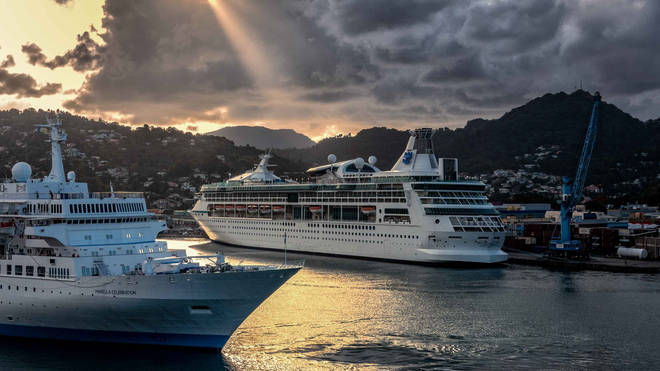 A passenger aboard the first cruise ship to set sail in the Caribbean since the start of the pandemic has tested positive for Covid-19 (file image)