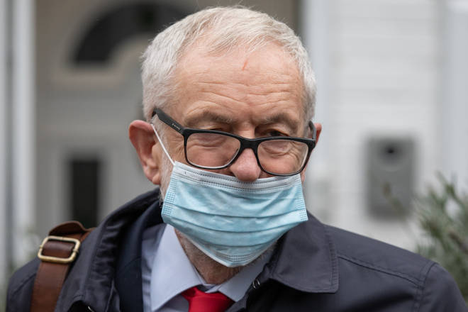 Jeremy Corbyn was suspended from Labour over his reaction to an anti-Semitism report