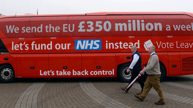 The bus stirred up controversy - especially when its claim was proven to be incorrect