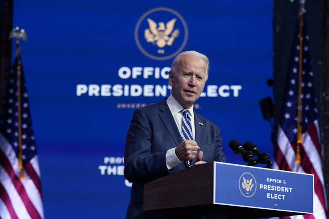 President-elect Joe Biden speaks on Tuesday