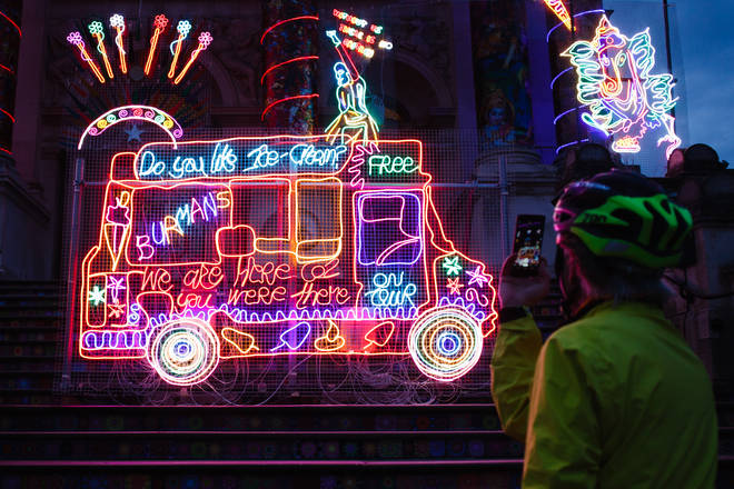 Covid-19 restrictions have not stopped people celebrating Diwali at home and enjoying art installations across the UK