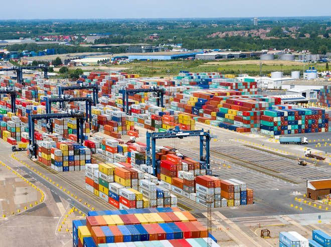 Felixstowe Port handles around 40% of all UK goods from abroad