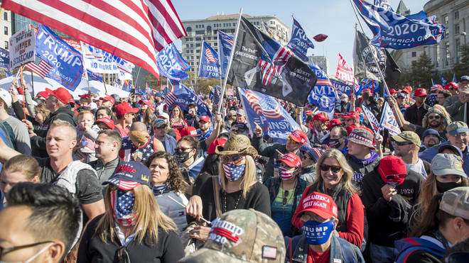 Trump supporters clashed with rivals on the streets of Washington D.C.