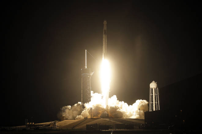 A SpaceX rocket carrying four astronauts launched on Monday
