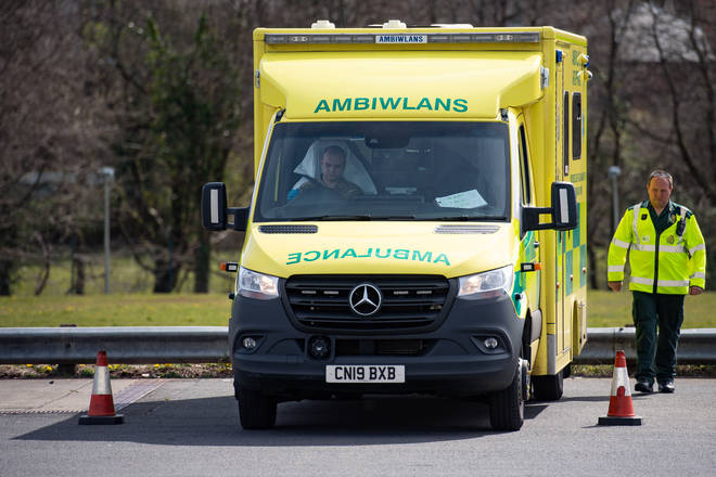 File photo: The Welsh Ambulance Service vehicle was taken from outside a home in Flintshire