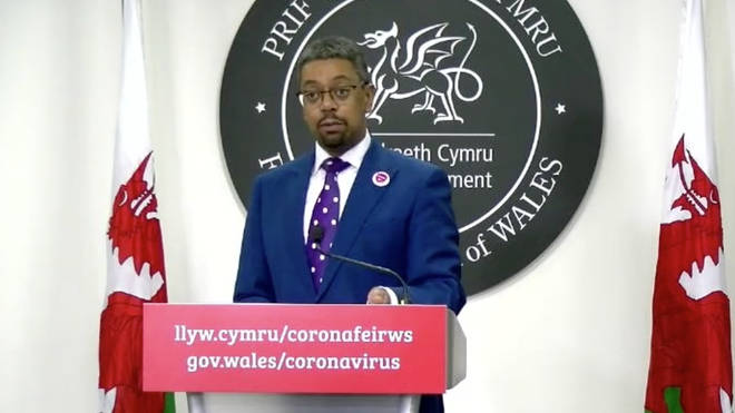 Welsh health minister Vaughan Gething was cautiously optimistic about today's Covid-19 figures