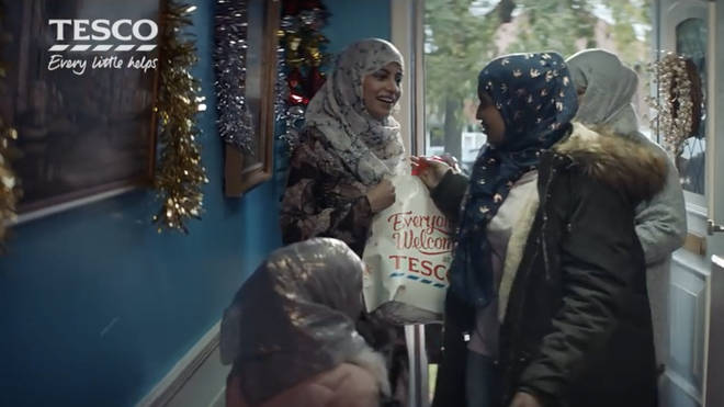 The scene featuring a Muslim family