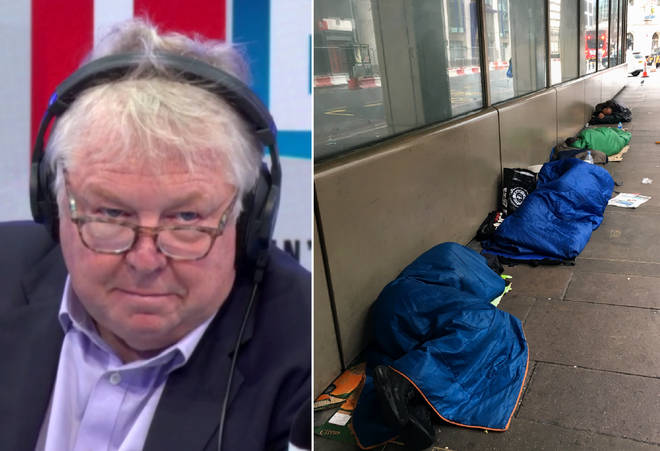 Nick's caller on homelessness was very controversial