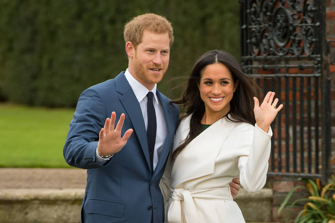 Meghan and Harry at Kensington palace
