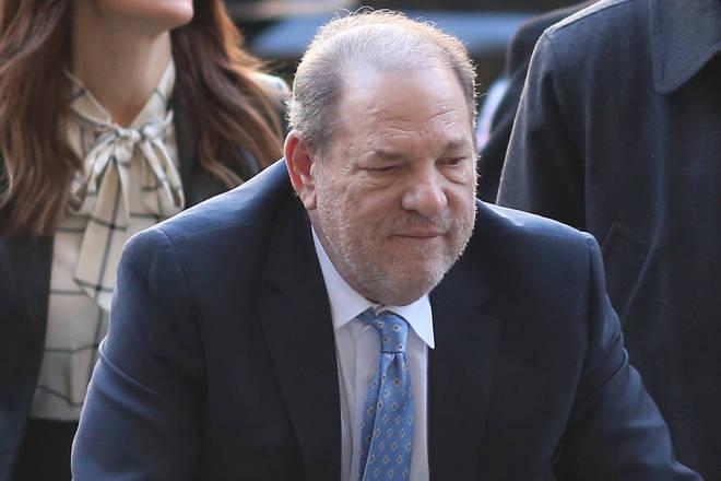 Harvey Weinstein arrives at Manhattan Criminal Court in February