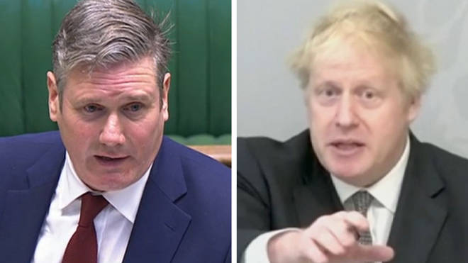 Sir Keir Starmer and Boris Johnson clashed at PMQ on Wednesday
