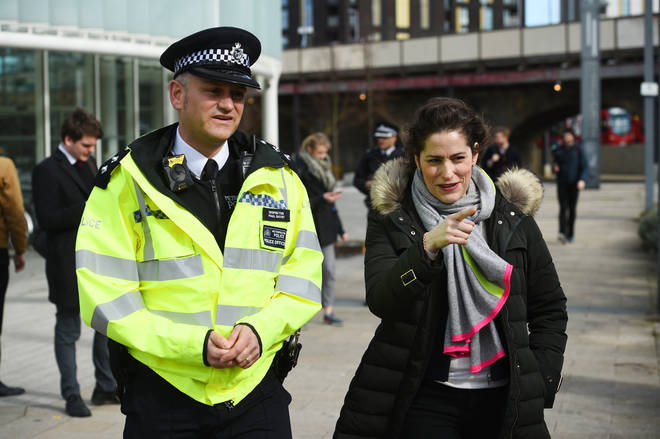 "Safeguarding minister Victoria Atkins (right) told MPs the Home Office had invested a ""£25 million package"" in responding to county lines crime"