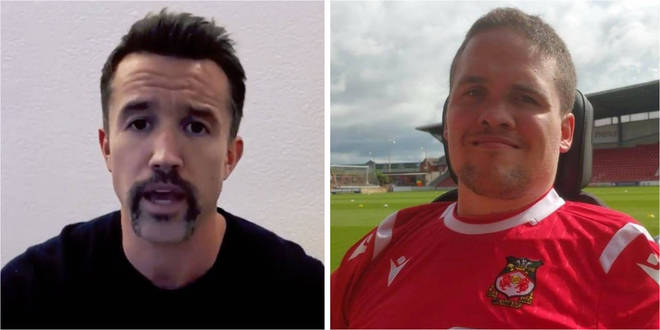 Rob McElhenney has donated £6,000 to a Wrexham AFC fan