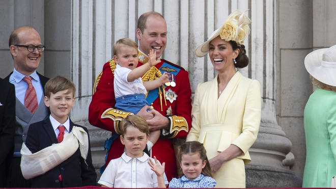 The adorable moment was marked with some adorable handmade cards from Prince George, Princess Charlotte and Prince Louis